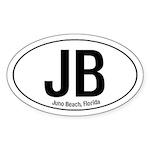 Juno Beach Oval Sticker