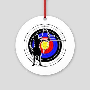 Archery & target 02 Ornament (Round)