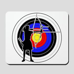 Archery & target 02 Mousepad