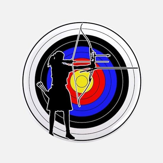 "Archery & target 02 3.5"" Button"