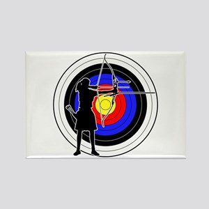 Archery & target 02 Rectangle Magnet