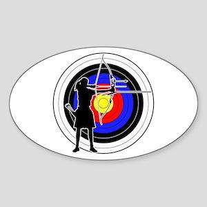 Archery & target 02 Sticker (Oval)