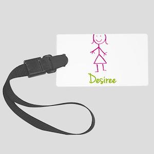 Desiree-cute-stick-girl Large Luggage Tag
