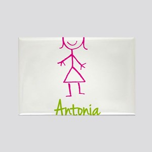 Antonia-cute-stick-girl.png Rectangle Magnet