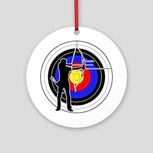 Archery & target 01 Ornament (Round)