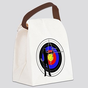Archery & target 01 Canvas Lunch Bag