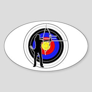 Archery & target 01 Sticker (Oval)