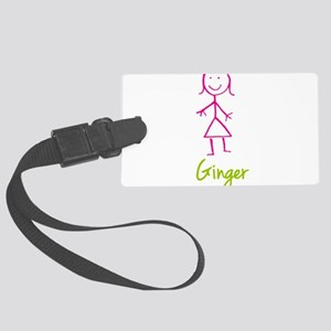 Ginger-cute-stick-girl Large Luggage Tag