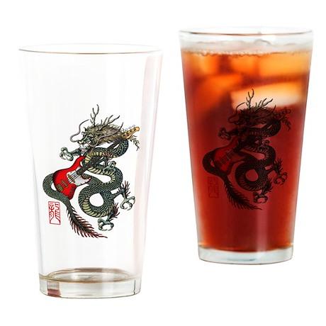 Dragon Bass 01 Drinking Glass