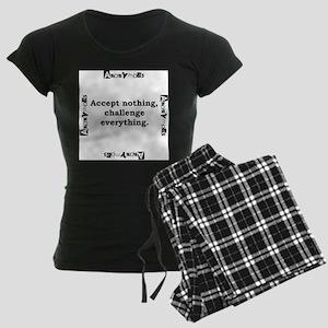 Accept Nothing - Anonymous Women's Dark Pajamas