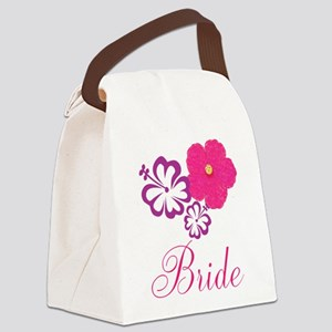 Pink and Purple Bride Hibiscus Flower Canvas Lunch