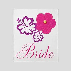 Pink and Purple Bride Hibiscus Flower Stadium Bla