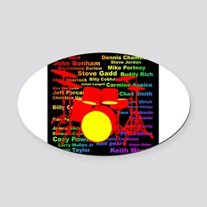 drum and drummer Oval Car Magnet