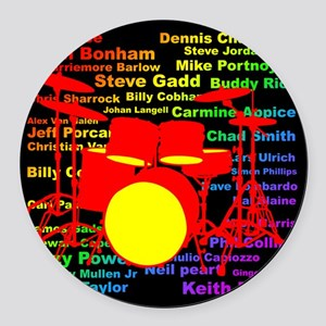 drum and drummer Round Car Magnet