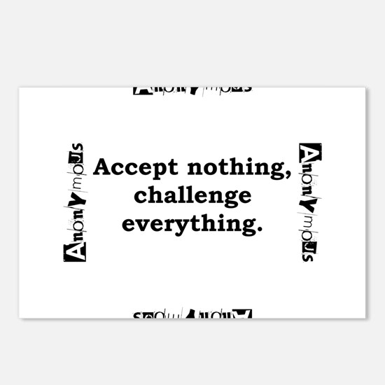 Accept Nothing - Anonymous Postcards (Package of 8