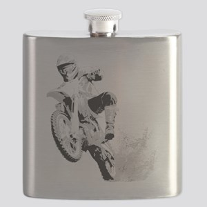 Dirtbike Wheeling in Mud Flask
