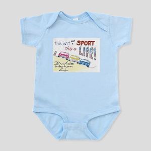 3 wide into turn 4 Infant Bodysuit