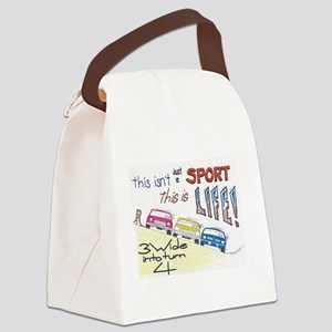 3 wide into turn 4 Canvas Lunch Bag
