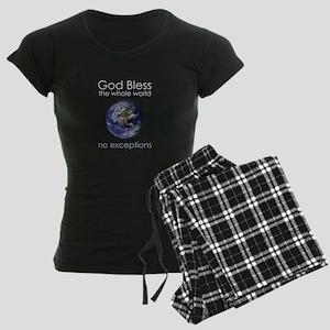 God Bless the Whole World Women's Dark Pajamas