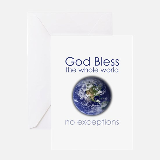 God Bless the Whole World Greeting Card