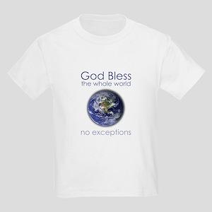 God Bless the Whole World Kids Light T-Shirt