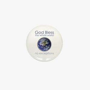 God Bless the Whole World Mini Button