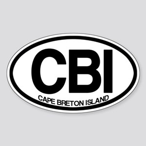 Cape Breton Island Sticker (Oval)