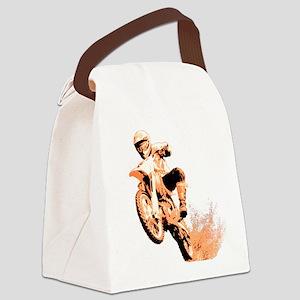 3-dirtbike wheeling in mud orange2 Canvas Lunc