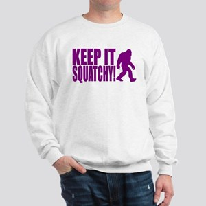 Purple KEEP IT SQUATCHY! Sweatshirt