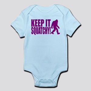 Purple KEEP IT SQUATCHY! Infant Bodysuit