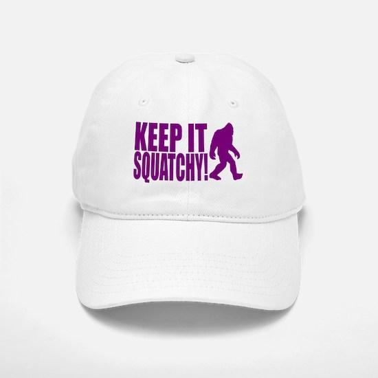Purple KEEP IT SQUATCHY! Baseball Baseball Cap