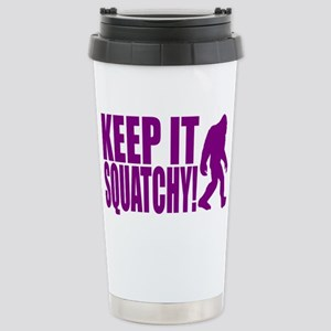 Purple KEEP IT SQUATCHY! Stainless Steel Travel Mu
