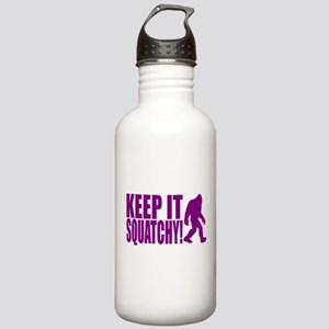 Purple KEEP IT SQUATCHY! Stainless Water Bottle 1.