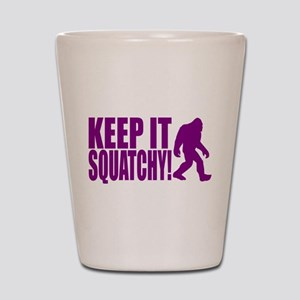 Purple KEEP IT SQUATCHY! Shot Glass