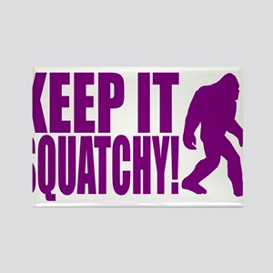 Purple KEEP IT SQUATCHY! Rectangle Magnet