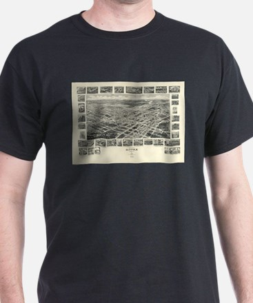 Vintage Pictorial Map of Suffolk VA (1907) T-Shirt