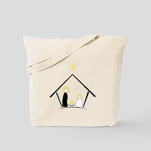 Baby In Manger Tote Bag