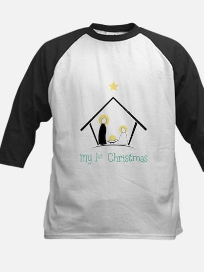 My 1st Christmas Kids Baseball Jersey
