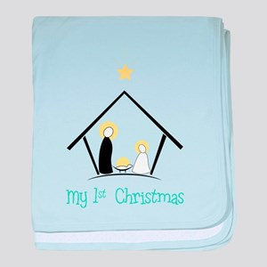My 1st Christmas baby blanket