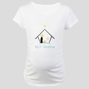 My 1st Christmas Maternity T-Shirt