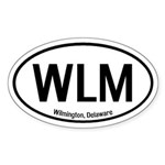 Wilmington, Delaware Oval Sticker