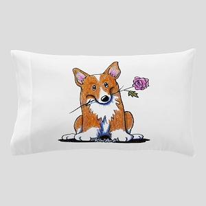 Corgi w/ Flower Pillow Case
