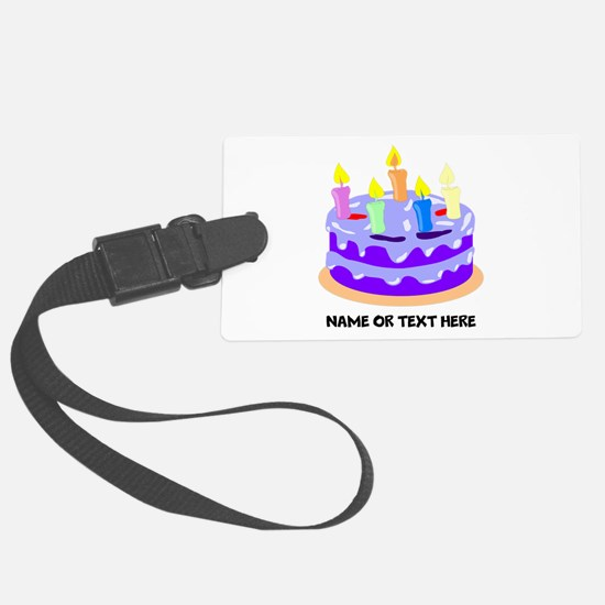 Birthday Party Cake Luggage Tag