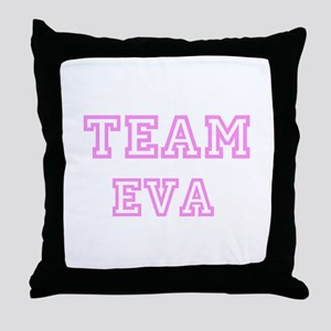 Pink team Eva Throw Pillow