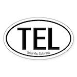 Telluride, Colorado Oval Sticker