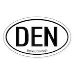 Denver, Colorado Oval Sticker
