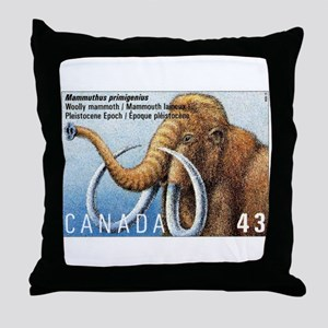 1994 Canada Woolly Mammoth Postage Stamp Throw Pil