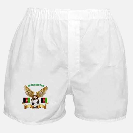 Afghanistan Football Design Boxer Shorts