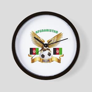 Afghanistan Football Design Wall Clock