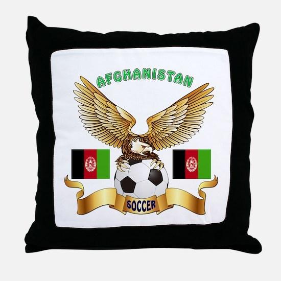 Afghanistan Football Design Throw Pillow